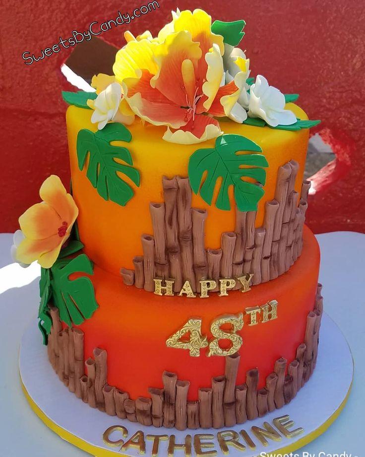 "37 Likes, 1 Comments - sweetsbycandy (@sweets_by_candy) on Instagram: ""Hawaiian Theme Cake #hawaii #hawaiian #hawaiiancake #tropical #paradise #sweets_by_candy…"""