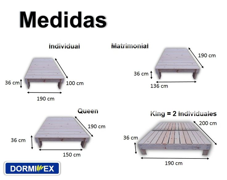 17 best images about medidas on pinterest queen size for Cual es la medida de un colchon queen