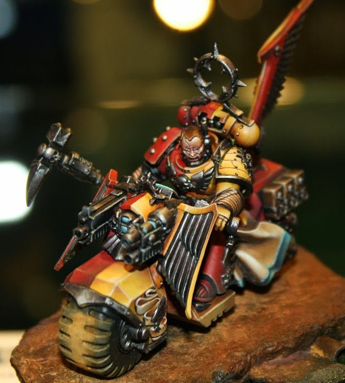 Space Marines Biker Golden Demon Games Day 2013 - Space Marines Biker by Mathieu Fontaine