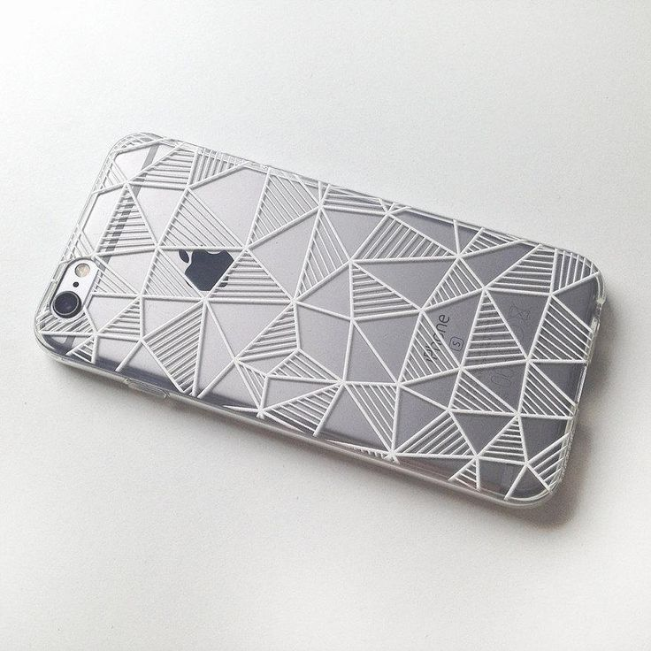 Geometric Stripes Triangle Black And White Soft Clear Phone Case For iPhone 7 7P…