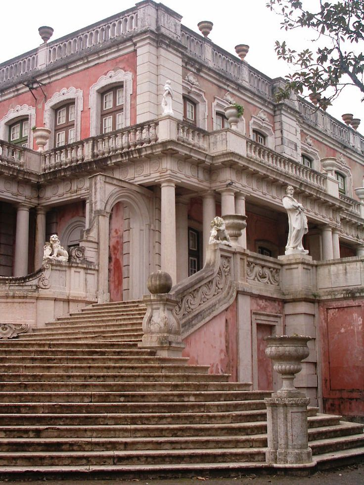 Queluz palace, an 18th century-royal residence which is one of the main rococo buildings in Portugal.