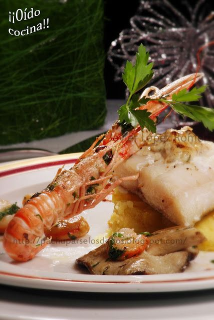¡¡Oído cocina!!: Bacalao con mayonesa de setas (Receta de Navidad)