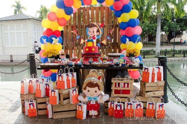 It S All About Details Increible Fiesta De Pinocho Por El Cumple De Agustin Gracias Por Hacernos Par Pinocho Decoracion De Fiestas Infantiles Fiesta