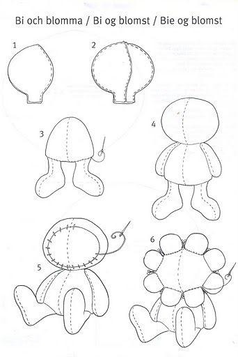 Bi Och Blomma Pattern 1