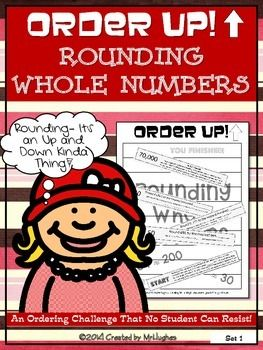 Rounding Whole Numbers - Order Up! Set 1 Welcome to a great new resource that will allow your students to practice KEY skills in a self-checking, self-paced way. Check out the FREE PREVIEW to see what is included! This set of ORDER UP! focuses on ROUNDING WHOLE NUMBERS.