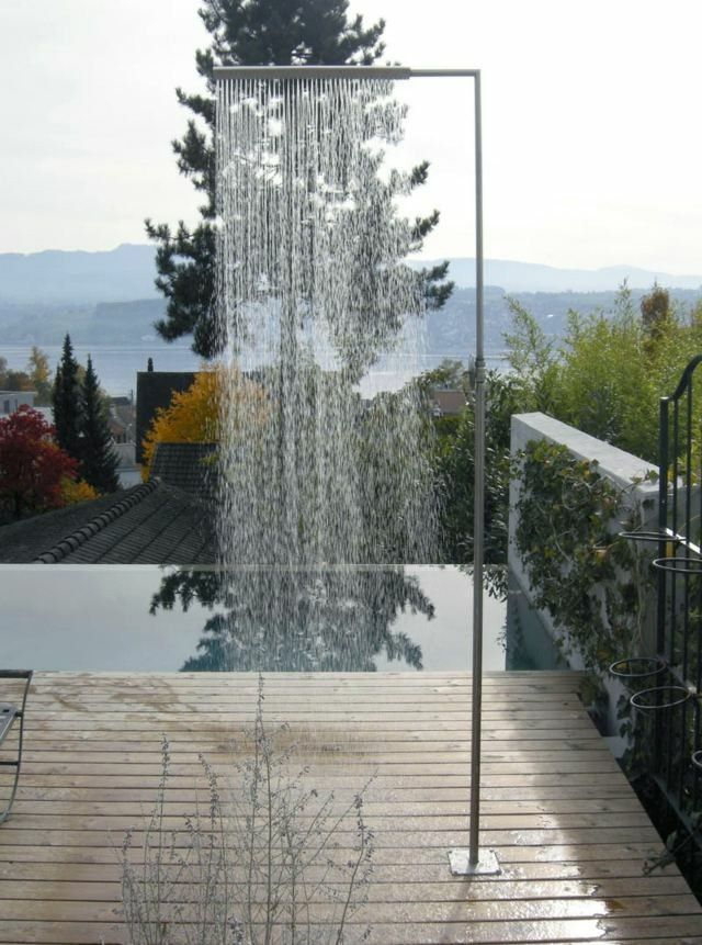 Platos De Ducha De Obra Para El Jardin 63 Imagenes Ducha De Jardin Ducha De Piscina Jardines Modernos