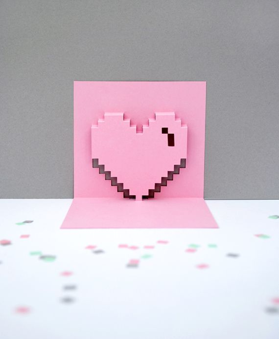 pop up card templates valentine - Google Search