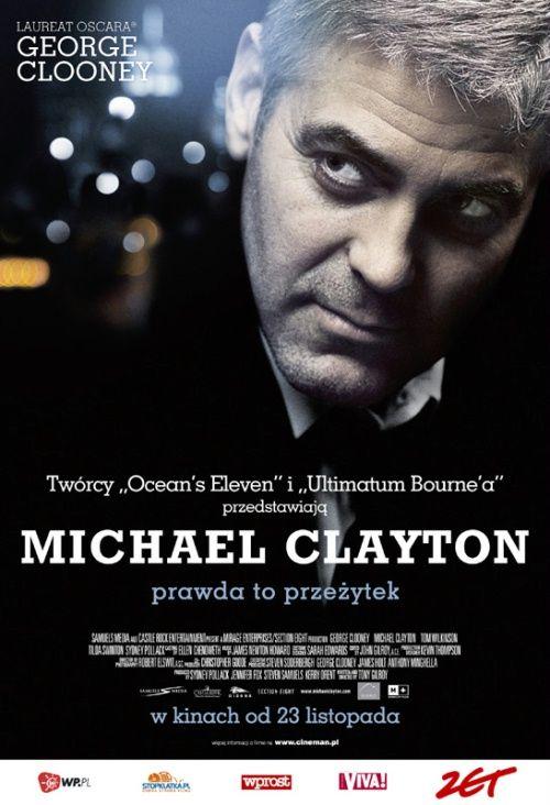 Michael Clayton (2007)  |  Prawnik, który specjalizuje się w tuszowaniu wybryków wysoko postawionych klientów, otrzymuje zadanie uwolnienia koncernu chemicznego od zarzutów zanieczyszczania środowiska.