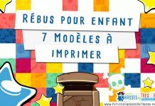 Rébus enfant – 7 Modèles à imprimer plus le générateur à rébus