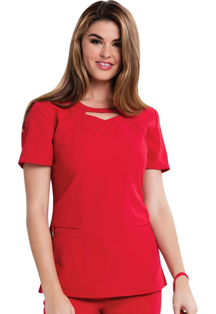 This Careisma scrub top offers neck detail and a comfortable fit! | The Uniform Outlet