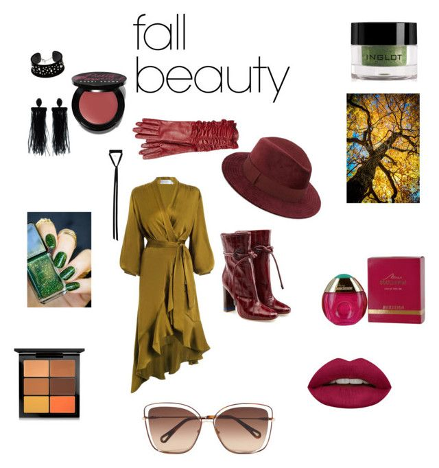 """fall 2017"" by alexandra-serban-1 on Polyvore featuring beauty, MAC Cosmetics, Bobbi Brown Cosmetics, Inglot, Huda Beauty, Alexander McQueen, Zimmermann, Boucheron, Saks Fifth Avenue and Malone Souliers"