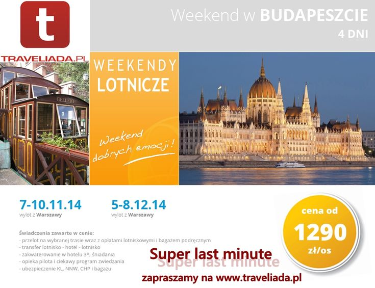 Weekend w Budapeszcie z Traveliada.pl