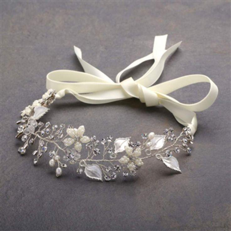 Bruids haaraccessoire - Bruids haarband - Bridal headband - Bruids diadeem - Bruidskapsel - Bridalhair