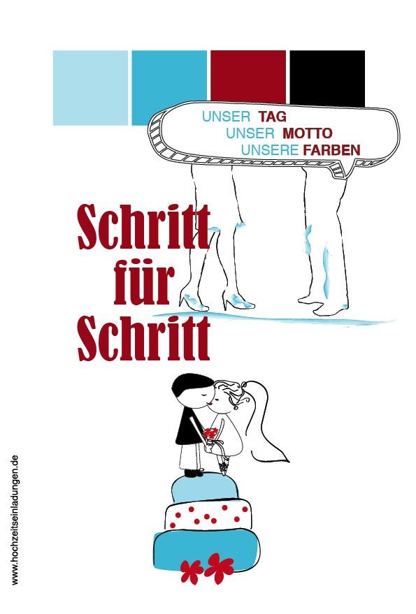 Schritt für Schritt in eine gemeinsame Zukunft!   http://www.hochzeitseinladungen.de/hochzeit/kartengalerien/vielseitig-einfallsreich/action/show/card/DED004-1.html?q=schritt