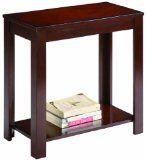Crown Mark Pierce Chair Side Table, Espresso