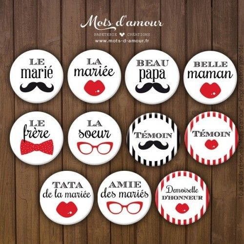 Assez Best 25+ Wedding badges ideas on Pinterest | Mariage, Plan de  AL45