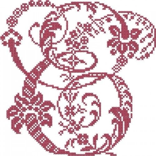 French Floral Cross Stitch Alphabet   Embroidery Stash