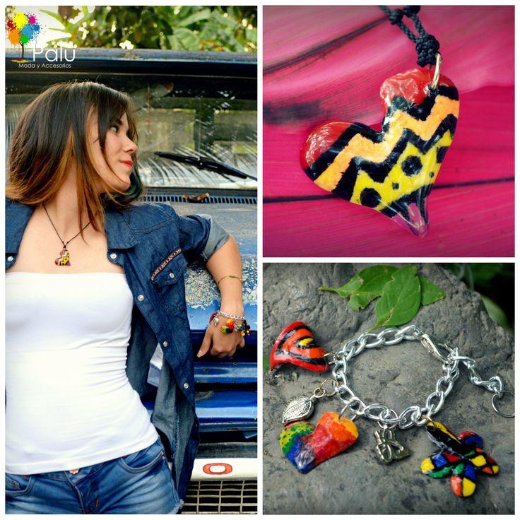 Collar y Pulseras con diseños Coloridos, disponible para venta inmediata, ENVIOS NACIONALES, info: Whatsapp 3005798722 - Pin: 7A7A2416