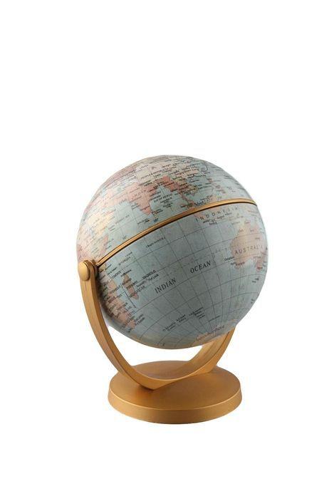 round the world globe small GREEN