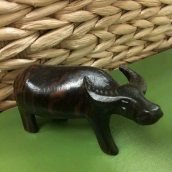 Ebony wood water buffalo was a gift to me