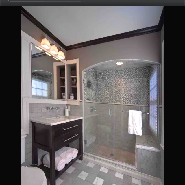 Small Bathroom Color Schemes Grey And Beige Bathroom Bathroom Gray Color Schemes Designs: 18 Best Images About Black Crown Molding On Pinterest