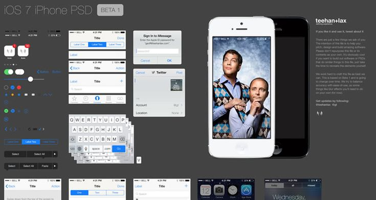 Speckboy - free iOS 7 gui template kits