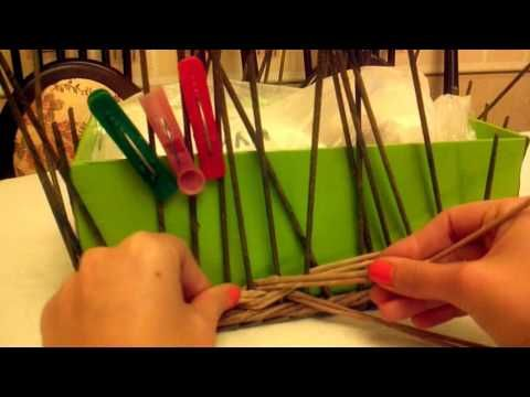 Weaving in the technique of braid - YouTube