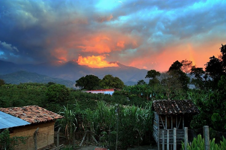 A sunset at this Coffee Triangle Region, in Quindio, Colombia