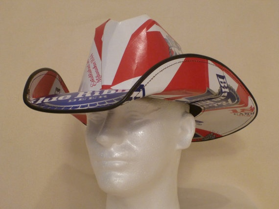 Beer Box Cowboy Hats Made from recycled Pabst Blue by BestBeerHats   can we say early christmas present for JJ?