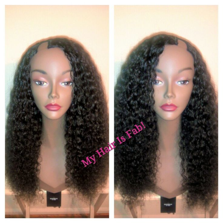 Same u part wig I posted previously can also be shifted to either side to be worn as a left or right part. Hair is from @Yummy Hair 3 bundles of 22-24 inches, deep curly texture. I make wigs for people throughout the U.S. and internationally! If you would like a wig made, email me at myhairisfabinfo@gmail.com