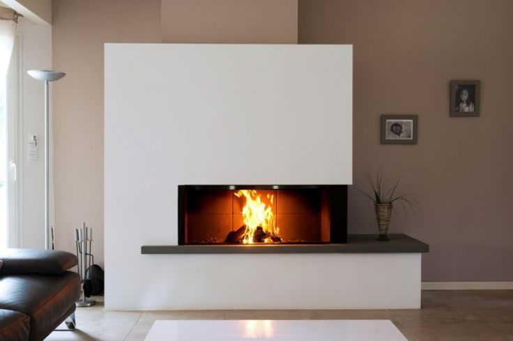 32 best Cheminée images on Pinterest Homes, Fireplace design and - doublage des murs interieurs