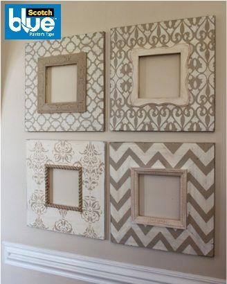 Cambiar la decoración de tu casa no tiene por que ser tan caro, renueva solo algunos elementos como los cuadros y juega con sus diseños.