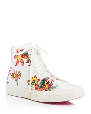 Converse PatBo Collection Chuck Taylor All Star Floral Embroidered High Top…