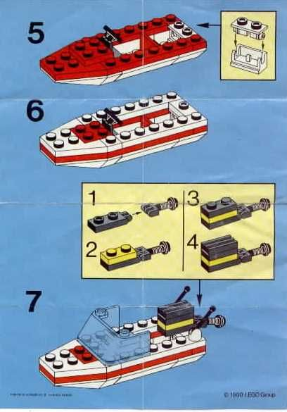 Lego speed boat from the 1990s