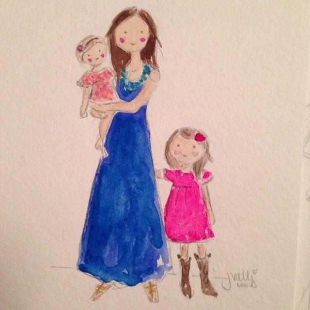Котенок надписью, мама и дочка смешные картинки нарисованные
