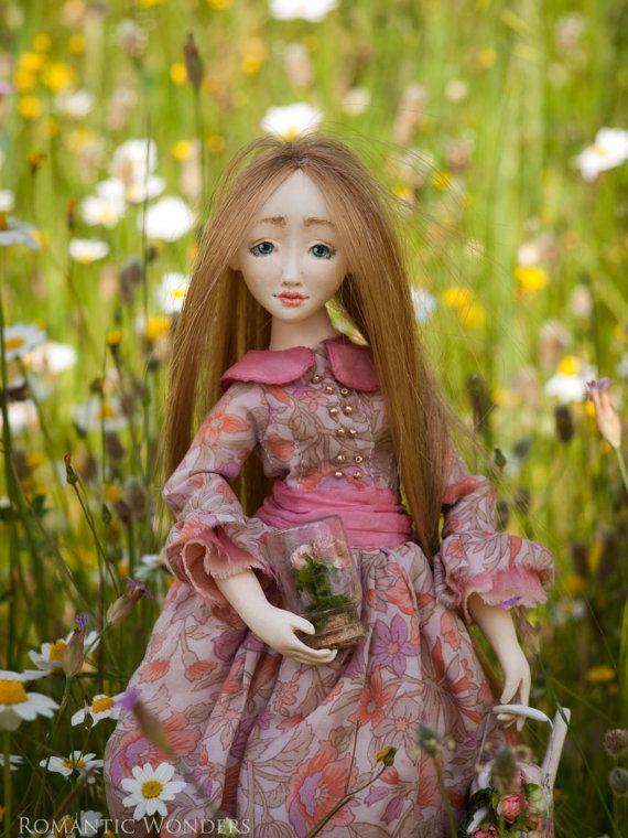 Spring Gardener. Rose. Handmade BJD OOAK doll.