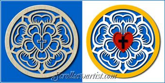 Scroll Saw Patterns :: Religious & Inspirational :: Other projects :: Luther seal -