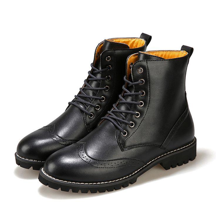 Nouvelle main en cuir véritable pour hommes en plein air d'automne Bottes d'hiver, de haute qualité Bottes d'hiver pour