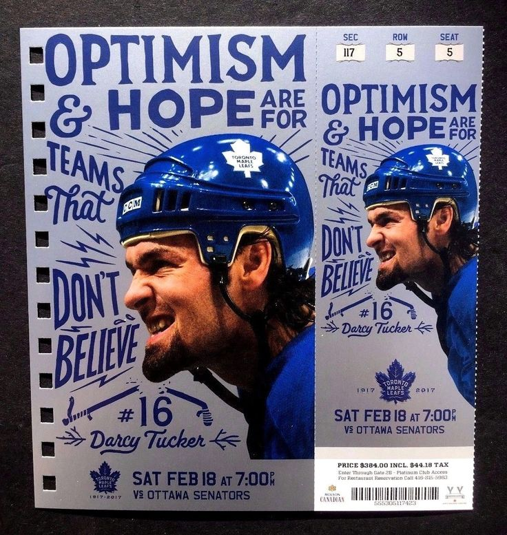 2016-17 Toronto Maple Leafs vs Ottawa Senators Darcy Tucker Featured Ticket | eBay
