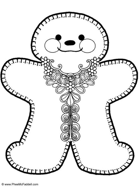 The 25+ best Gingerbread man coloring page ideas on