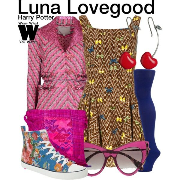 Inspired by Evanna Lynch as Luna Lovegood in the Harry Potter film franchise.