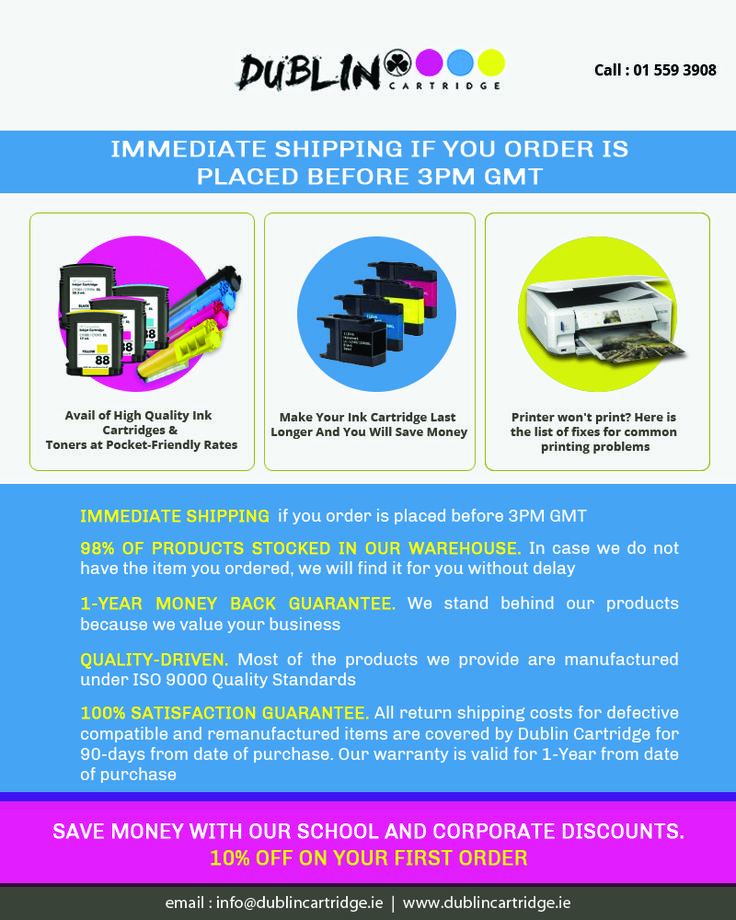 Printer ink toners are responsible for printing quality prints, invoices, bills, etc. If you use low quality toners then you're hurting your business. Buy genuine ink toners and print quality papers.