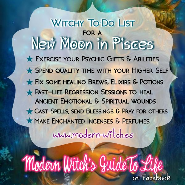 ∆ Moon Magick... ★ Witchy things to do during a New Moon in Pisces ★