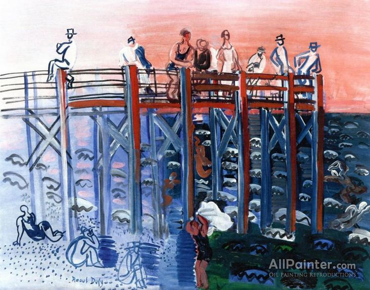 Raoul Dufy,The Pier At Le Havre oil painting reproductions for sale