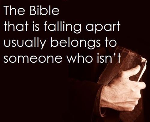 I love worn bibles