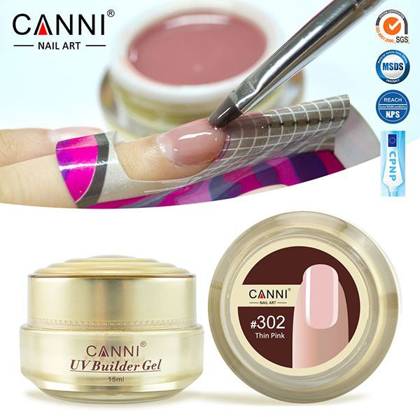 CANNI Builder Gel 15ml White Transparent Clear Pink 25 Color Nail Extending UV Gel
