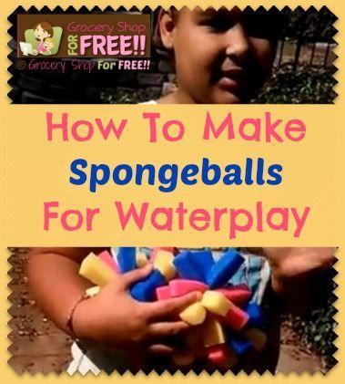 How To Make Spongeballs For Waterplay