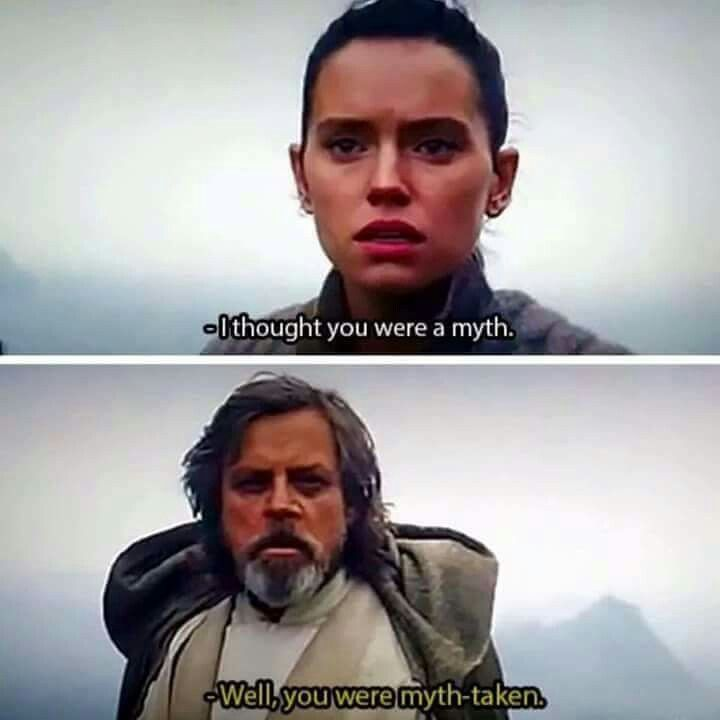 Mark Hamill would say this<<< Are you sure he hasn't