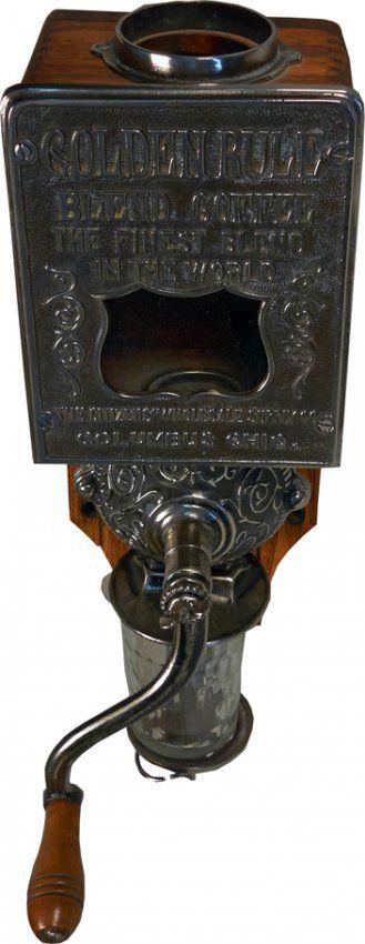 Golden Rule Hand-Crank Wall Mount Cast-Iron Coffee Grin : Lot 909