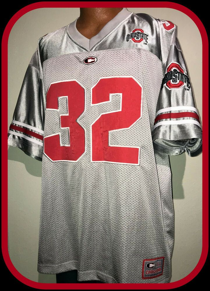 OHIO STATE BUCKEYE COLOSSEUM ATHLETIC EMBROIDERED GRAY ...